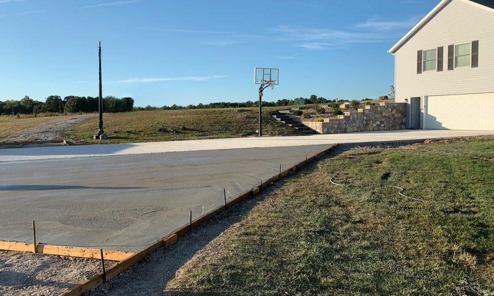 Impede IntraSeal concrete driveway